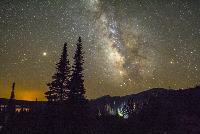 Milky Way over Big Creek Lakes